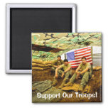 Los soldados de OEF, apoyan a nuestras tropas Imán Para Frigorifico