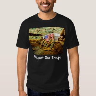 Los soldados de OEF, apoyan a nuestras tropas Remera