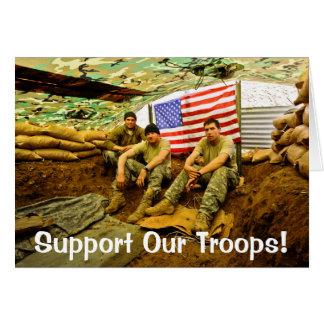 Los soldados de OEF, apoyan a nuestras tropas Tarjeta De Felicitación