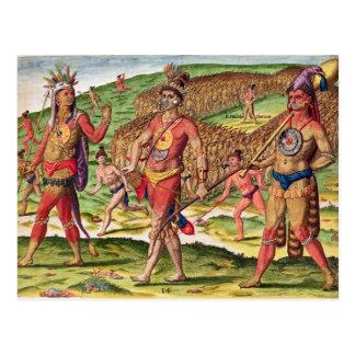 Los soldados de Outina que marchan al corte Tarjeta Postal