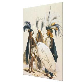 Los soldados del Zulú de Army de rey Panda's, plat Lienzo Envuelto Para Galerías