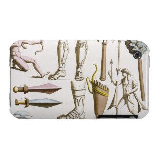 Los soldados griegos, brazos y armadura, platean 3 Case-Mate iPhone 3 carcasa