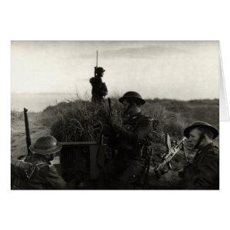 Los soldados polacos de WWII guardan la costa ingl Tarjeta De Felicitación