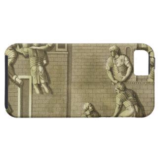Los soldados romanos que construyen un fuerte, iPhone 5 funda