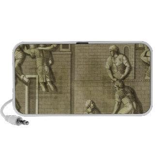 Los soldados romanos que construyen un fuerte, pla iPod altavoz