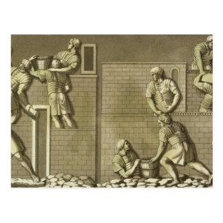 Los soldados romanos que construyen un fuerte pla tarjeta postal