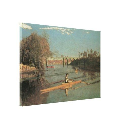Los solos Sculls del campeón, 1871 Impresion De Lienzo