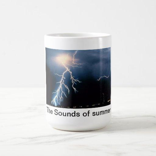 Los sonidos del verano taza de café