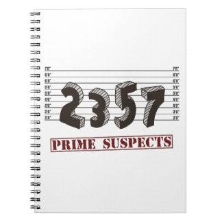 Los sospechosos del número primero libro de apuntes