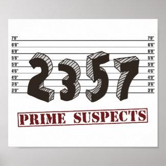 Los sospechosos del número primero póster
