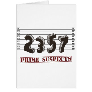 Los sospechosos del número primero tarjeta de felicitación