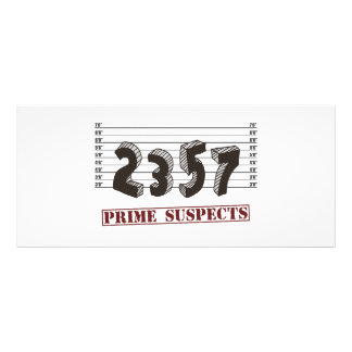 Los sospechosos del número primero tarjeta publicitaria a todo color