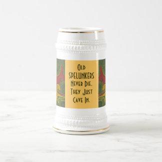 los spelunkers nunca mueren humor tazas de café