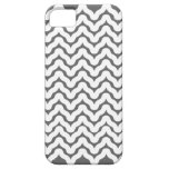 Los Squiggles ondulados grises y blancos modelan e iPhone 5 Case-Mate Protectores