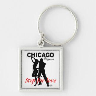 Los Steppers de Chicago - camine para la silueta d Llaveros Personalizados