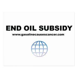 Los subsidios del aceite del extremo liberan el postal
