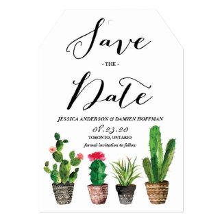 """Los Succulents de la acuarela de Boho ahorran la Invitación 5"""" X 7"""""""