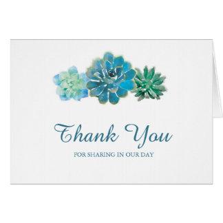 Los Succulents dulces del trío el | le agradecen Tarjeta Pequeña