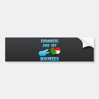 Los sudaneses son mi Homies Pegatina De Parachoque