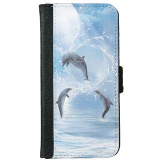 Los sueños de delfínes funda cartera para iPhone 6