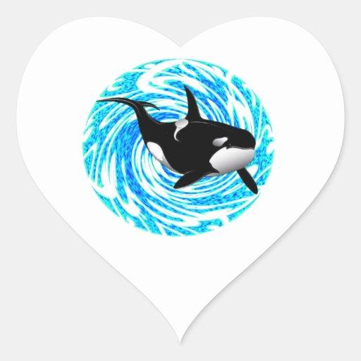 LOS SUEÑOS DE LA ORCA PEGATINAS CORAZON PERSONALIZADAS