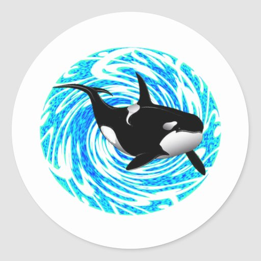 LOS SUEÑOS DE LA ORCA PEGATINAS REDONDAS