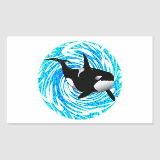 LOS SUEÑOS DE LA ORCA RECTANGULAR PEGATINAS