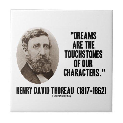 Los sueños de Thoreau son piedras de toque de Azulejo Cuadrado Pequeño