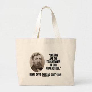 Los sueños de Thoreau son piedras de toque de Bolsa Tela Grande