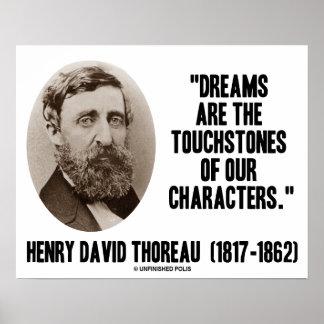 Los sueños de Thoreau son piedras de toque de nues Posters
