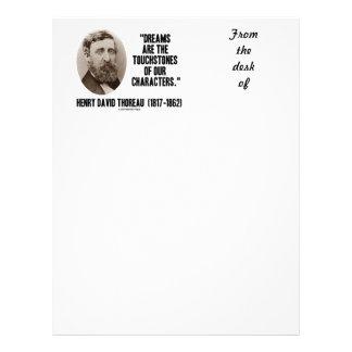 Los sueños de Thoreau son piedras de toque de Plantillas De Membrete