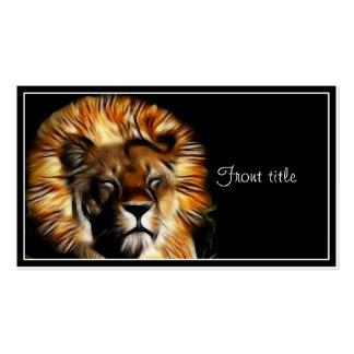 Los sueños del león tarjetas de visita