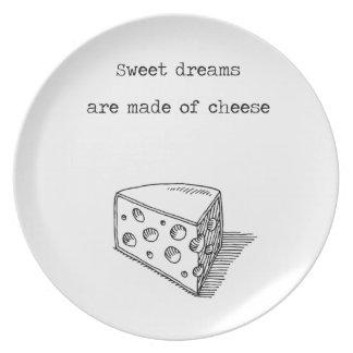 Los sueños dulces se hacen de la placa del amante plato de cena
