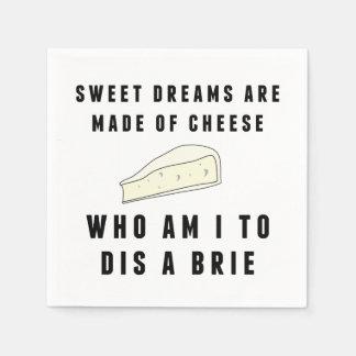 Los sueños dulces se hacen del queso servilletas desechables