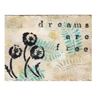 Los sueños están libres postales
