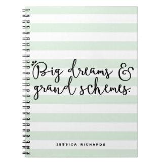 Los sueños grandes y los esquemas magníficos cuaderno