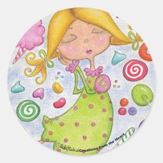 Los sueños más dulces pegatina redonda