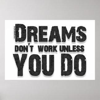 Los sueños no trabajan póster