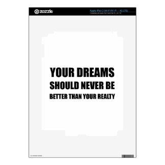 Los sueños nunca mejoran que realidad iPad 3 skins