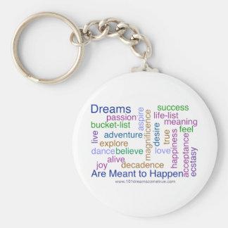 Los sueños se significan para suceder (brillante) llavero