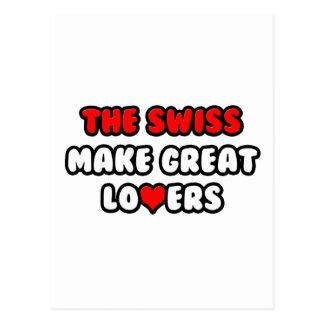 Los suizos hacen a grandes amantes postales