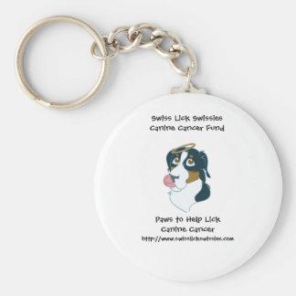 Los suizos lamen llavero canino del cáncer