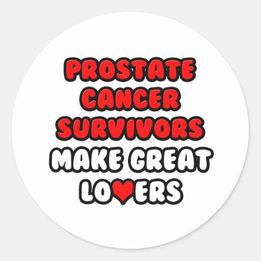 Los supervivientes del cáncer de próstata hacen a pegatina redonda