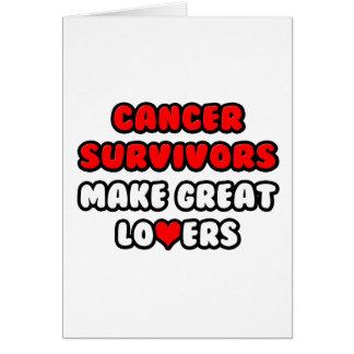 Los supervivientes del cáncer hacen a grandes tarjeta de felicitación
