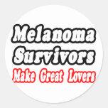 Los supervivientes del melanoma hacen a grandes pegatina redonda