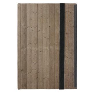 Los tableros de madera rústicos de la cerca del gr iPad mini cárcasas