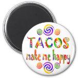 Los Tacos me hacen feliz Imán De Frigorífico