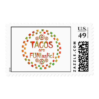 Los Tacos son Funtastic Sello Postal