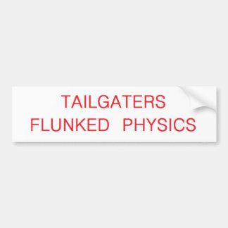 los tailgaters flunked la física etiqueta de parachoque