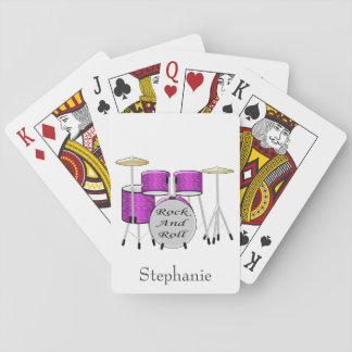Los tambores apenas añaden nombre barajas de cartas